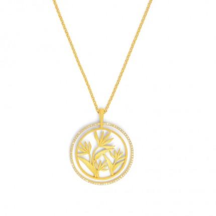 BERND WOLF Collier STRELIZA Silber Goldplattierung Zirkonia 87302156-70-80
