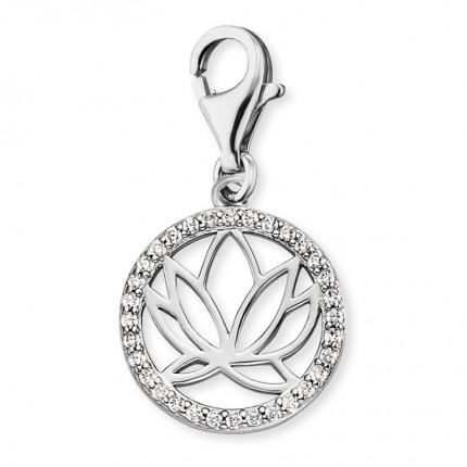 Engelsrufer Charms Silber Lotus Zirkonia ERC-LOTUS-ZI
