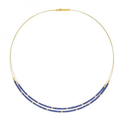 BERND WOLF Collier LINDI Silber Goldplattierung Lapislazuli 85238226-43