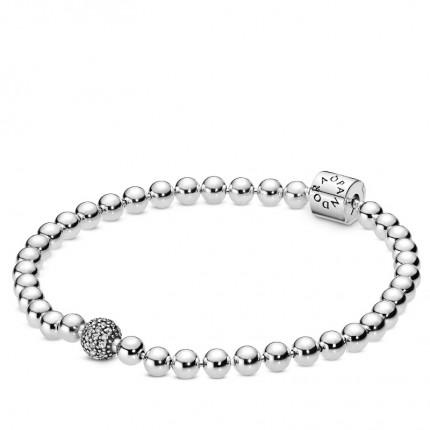 PANDORA Armband Silber Beads & Pavé 598342CZ