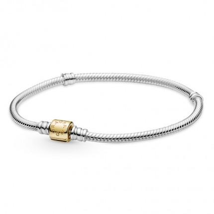 PANDORA Silberarmband mit Zylinderverschluß Gold 599347C00