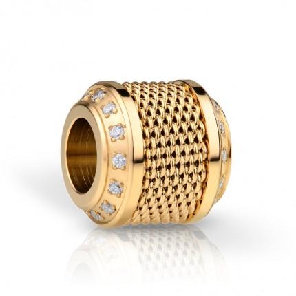 Bering Charm Edelstahl Gold Zirkonia Milanaise Eternity-1