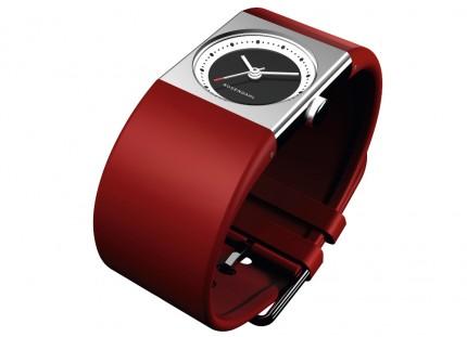 ROSENDAHL Armbanduhr Watch IV Small Edelstahl Polyurethan Rot 43262