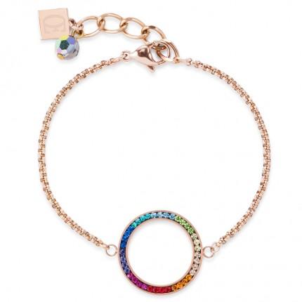 COEUR DE LION Armband Roségold Kristalle Pavé Multicolor 4957/30-1500