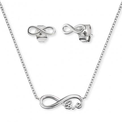 Engelsrufer Schmuckset Kette & Ohrstecker Silber Infinity ERMT-LILINFINITY