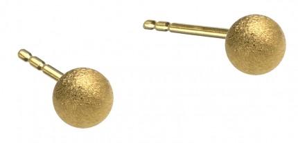 BERND WOLF Ohrstecker Kugel Silber Goldplattierung 19006506
