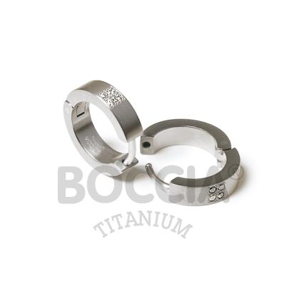Boccia Ohrschmuck Creole Titan Brillanten 0510-07