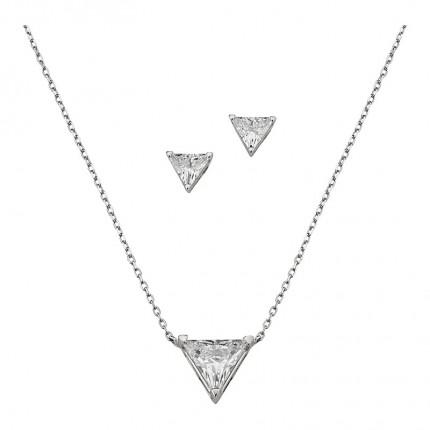 CEM Schmuckset Silber Dreieck BGT906217