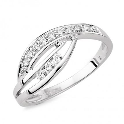 CEM Ring 333/- Weißgold Zirkonia G3-00412R