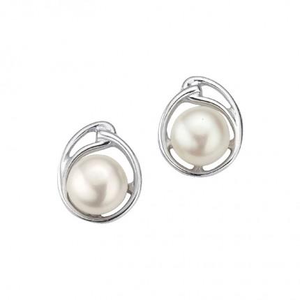 CEM Ohrschmuck Silber Zirkonia Perle BOS905152