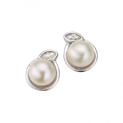 CEM Ohrschmuck Silber Zirkonia Perle BOS905155