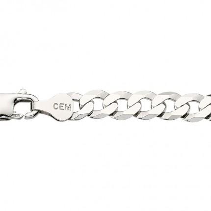 CEM Herrenarmband Silber Flachpanzer BFPR94554/21