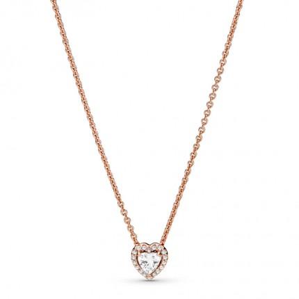 PANDORA ROSE Halskette Sparkling Heart 388425C01