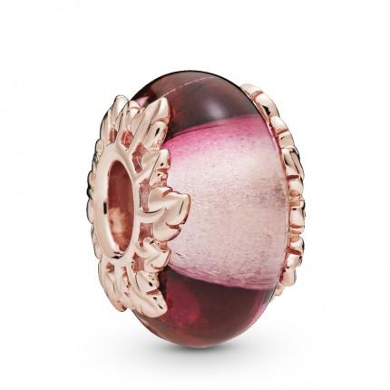 PANDORA ROSE Element Muranoglas Pink Glass & Leaves 788244