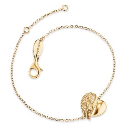 Engelsrufer Armband Silber Gold plated Herzflügel ERB-LILHEARTWING-G