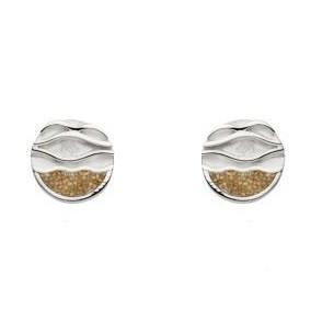 DUR Ohrstecker Silber Sand Ebbe & Flut O4915