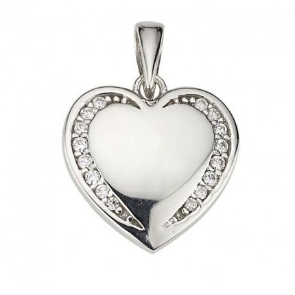 CEM Anhänger Herz Silber Zirkonia BAH904868