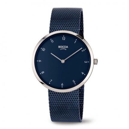 Boccia Titanium Trend Damenuhr Milanaiseband Blau 3309-09