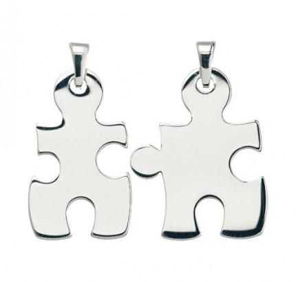 CEM Anhänger Puzzle Silber 2 tlg. BAH 900998
