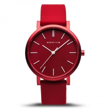 Bering Armbanduhr Unisex Aurora Silikonband Rot 16934-599