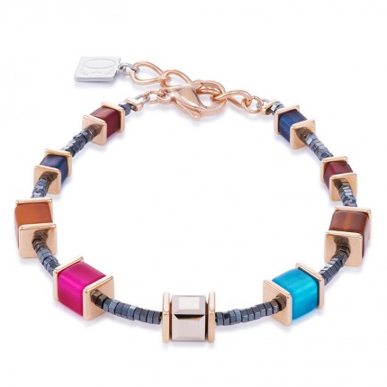 COEUR DE LION Armband Geo Cube Multicolor Winter 2 4945/30-1567