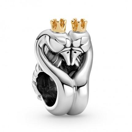PANDORA Silberelement Swans & Heart 799315C00