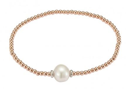 ADRIANA Perlenarmband Silber Rosévergoldet Süßwasserperle Barock A124