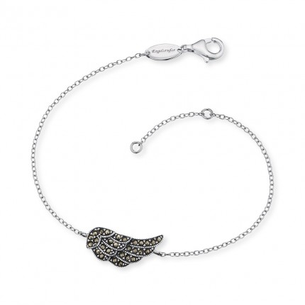 Engelsrufer Armband Flügel Silber Markasiten ERB-LILWING-MA