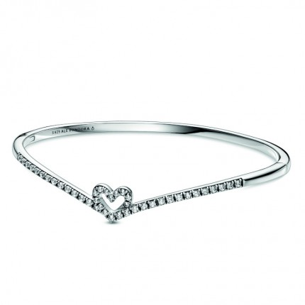 PANDORA Armreif Sparkling Wishbone Heart 599297C01-3