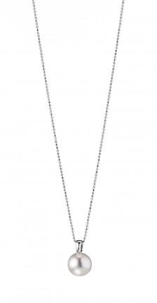 ADRIANA Halskette Silber Rhodiniert Süßwasserperle R75