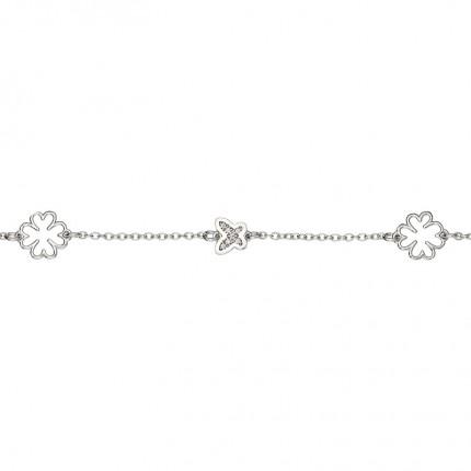 CEM Armband Silber Blüte Schmetterling BAS96311/19