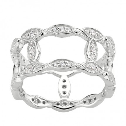CEM Ring 925/- Silber Zirkonia S-00458R