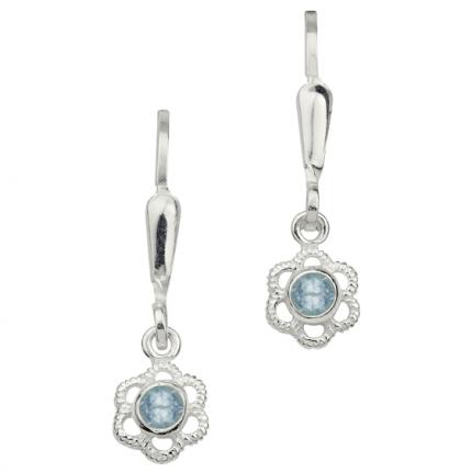 CEM Ohrhänger Silber Blume Blau BOH904802