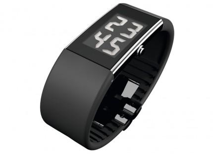 ROSENDAHL Armbanduhr Digital Watch II Large Edelstahl Polyurethan Schwarz 43103
