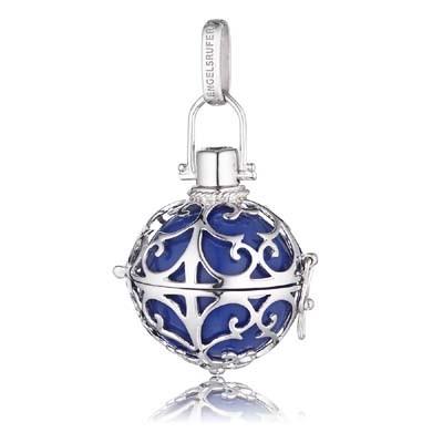 Engelsrufer Silber Rhodiniert mit Klangkugel Blau ER-07-L