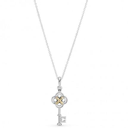 PANDORA Silberkette Key & Flower 399339C01-70