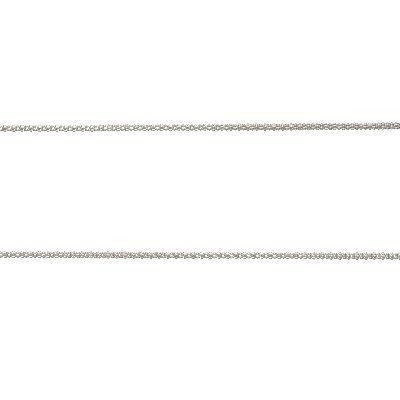 DUR Popkornkette Silber Rhodiniert K2256