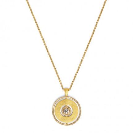 BERND WOLF Collier PIROUETTO Silber Goldplattiert Zirkonia 85361156-70-80