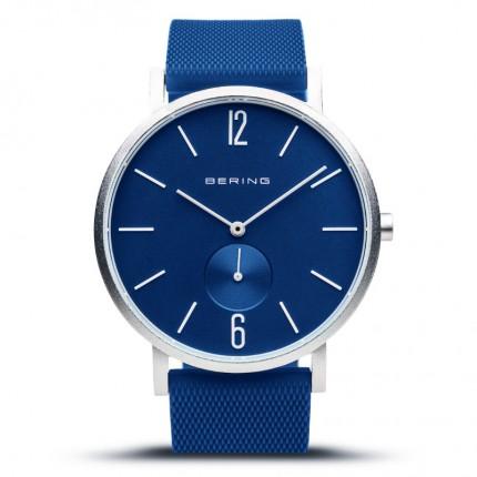 Bering Armbanduhr Unisex True Aurora Silikonband Blau 16940-709