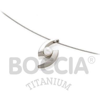 Boccia Anhänger Titan Süßwasserzuchtperle 0772-01