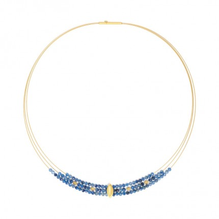 BERND WOLF Collier NAVENSI Silber Goldplattierung Kyanit 84129796-43