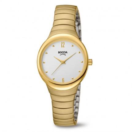 Boccia Titanium Damenuhr Gold Dress Perlmutt 3307-02
