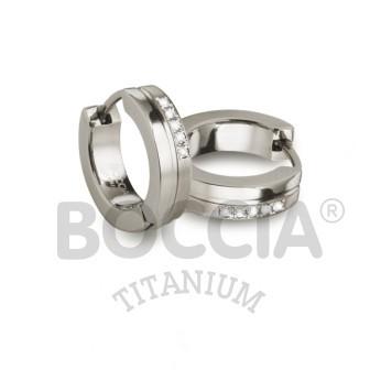 Boccia Ohrschmuck Creole Titan Brillanten 0510-11