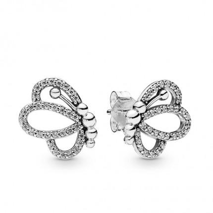 PANDORA Ohrschmuck Silber Butterfly Outlines 297912CZ