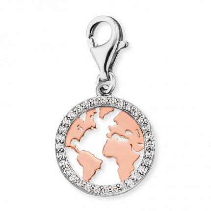 Engelsrufer Charms Silber Weltkarte ERC-WORLD-BICOR-ZI