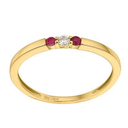 CEM Ring 333/- Gold Zirkonia Rubin G3-00230R