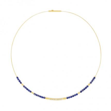BERND WOLF Collier SENBO Silber Goldplattierung Lapislazuli 84101236-43