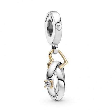 PANDORA Silberanhänger Two-tone Wedding Rings 799319C01