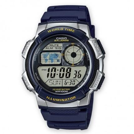 Casio Armbanduhr Collection Blau Weltzeit AE-1000W-2AVEF