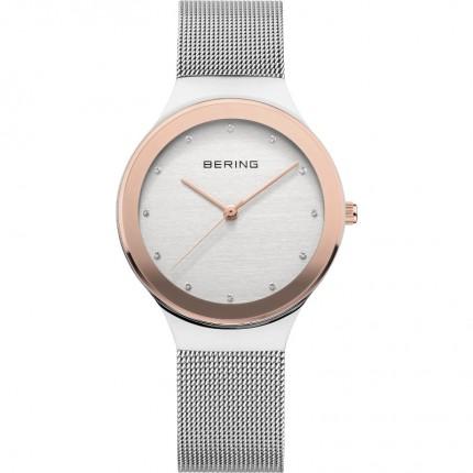 Bering Damenuhr Classic Silber Roségold 12934-060
